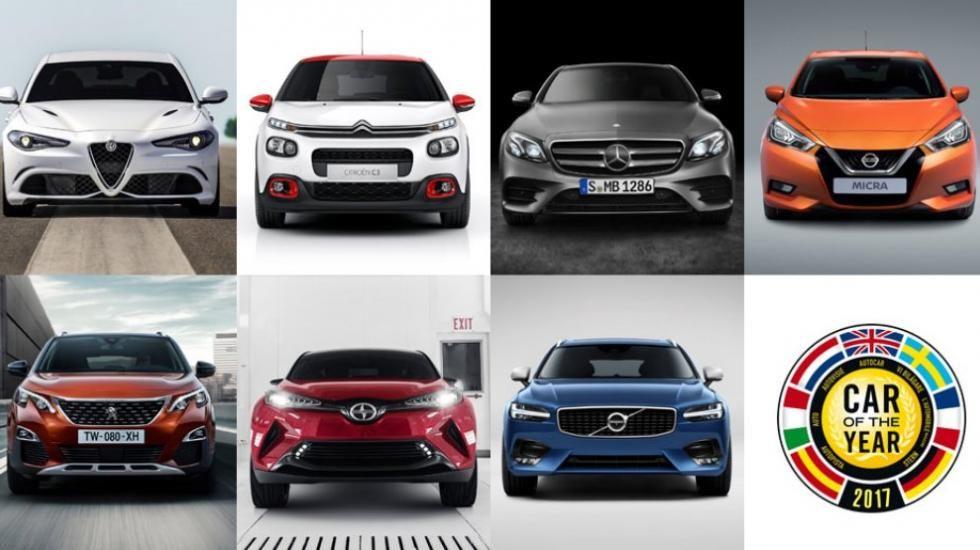 Los siete candidatos a ser el coche del Año 2017 en Europa