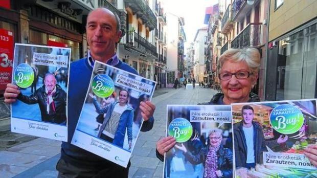 Campaña del ayuntamiento para realizar las compras en el municipio. Arguiñano, Berchiche, Ainhoa Murua e Itziar Aizpurua ponen sus rostros