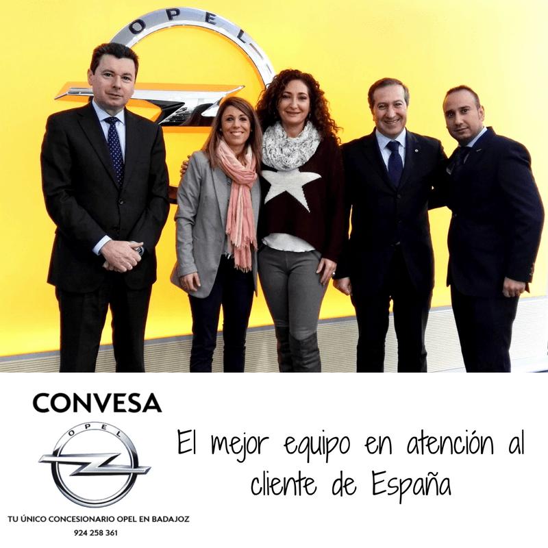 Convesa premiada por el mejor equipo en atención al cliente de España