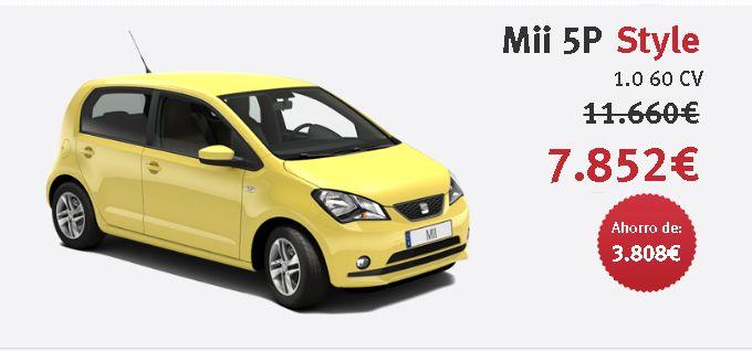SEAT Mii 5P Style 1.0 60 CV Color Sunflowers con 3.808€ de descuento