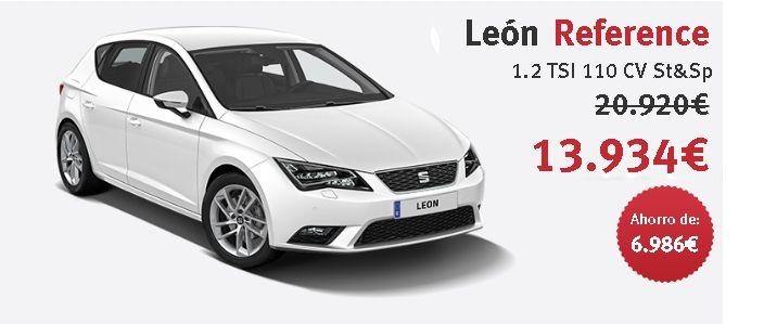 León Reference 1.2 TSI 110 CV St&Sp Color Blanco con un ahorro de 7.000€