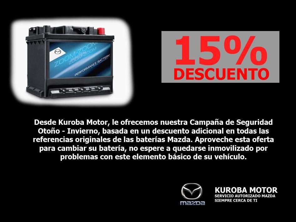 15% de dto. al cambiar la batería de su vehiculo.