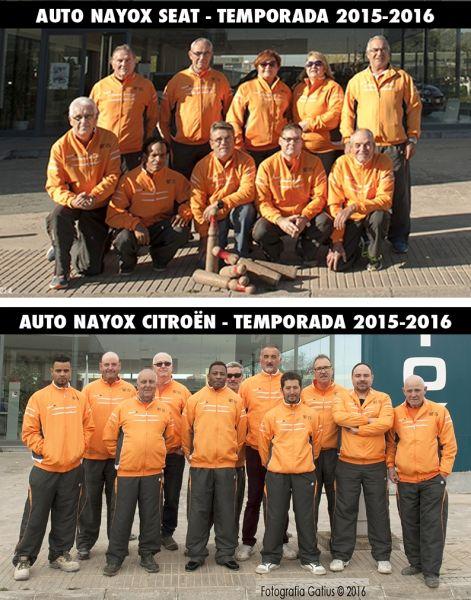 AUTO NAYOX, PATROCINA LOS EQUIPOS AUTO NAYOX SEAT Y AUTO NAYOX CITROËN DEL CLUB DE BITLLES TÀRREGA