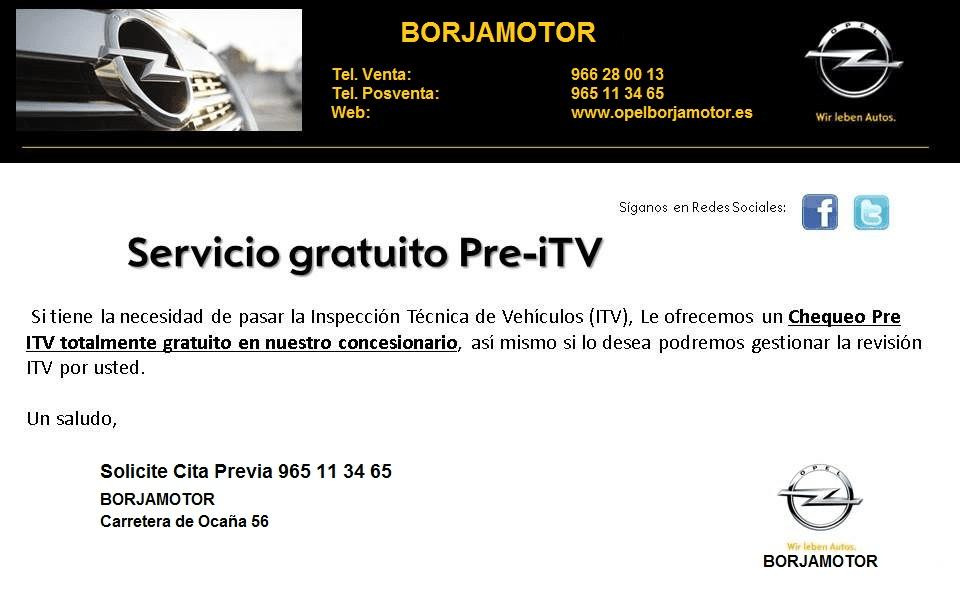 Servicio Gratuito Pre-iTV