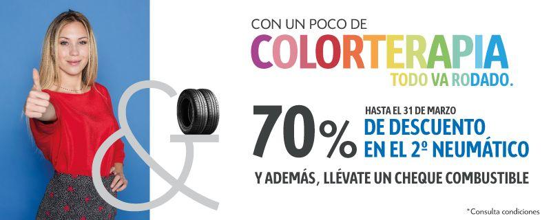 70% de descuento en tu 2º neumático este mes de Marzo