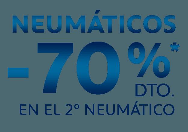 2º NEUMATICO 70% DE DESCUENTO