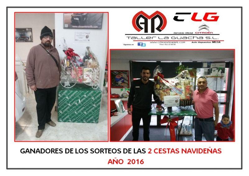 GANADORES DE LOS SORTEOS DE LAS DOS CESTAS NAVIDEÑAS 2016