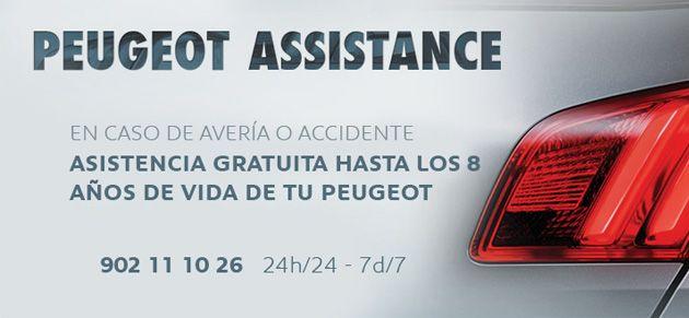 ASISTENCIA GRATUITA HASTA LOS 8 AÑOS DE TU PEUGEOT