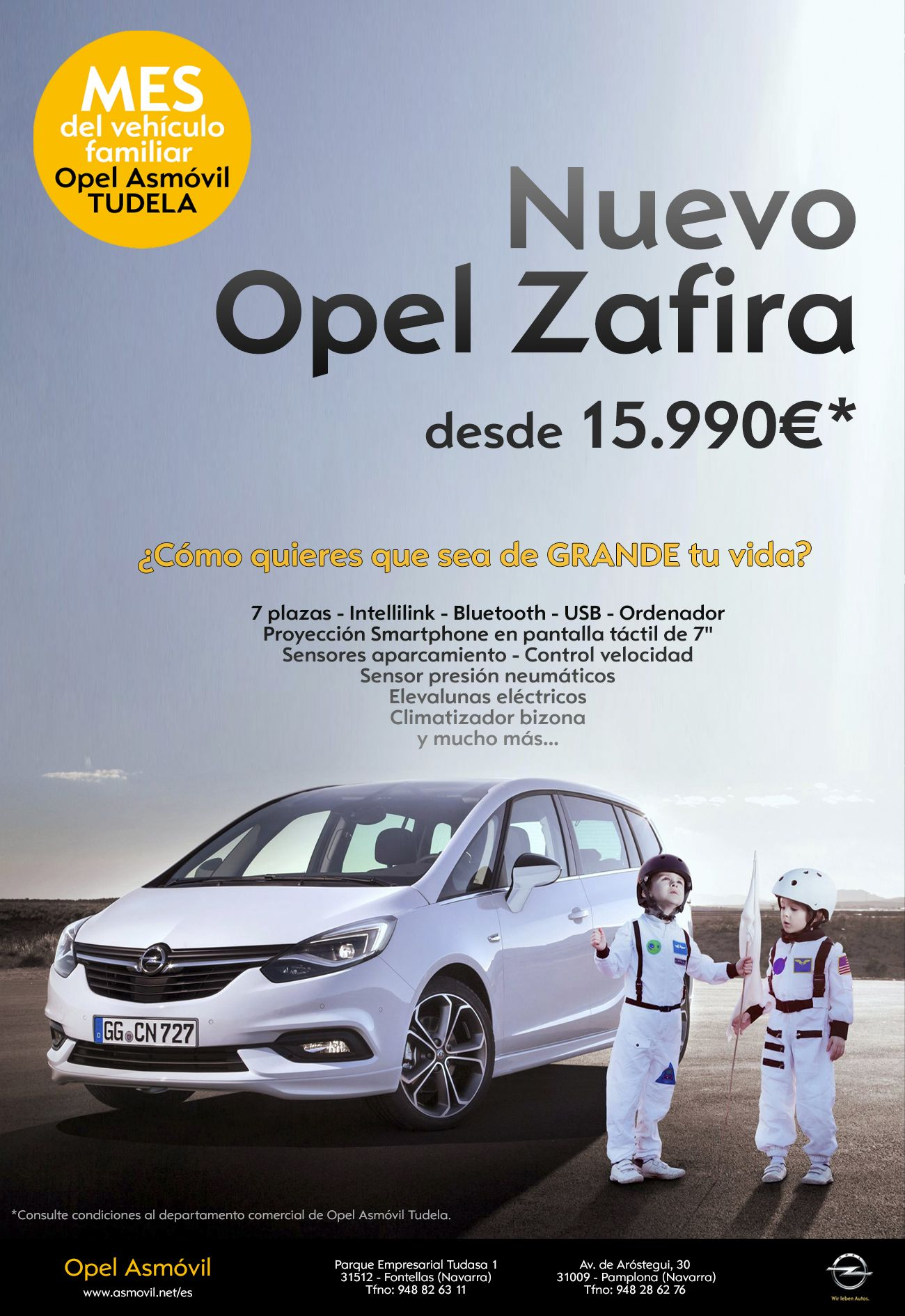 Mes del Vehículo Familiar en Opel Asmóvil Tudela