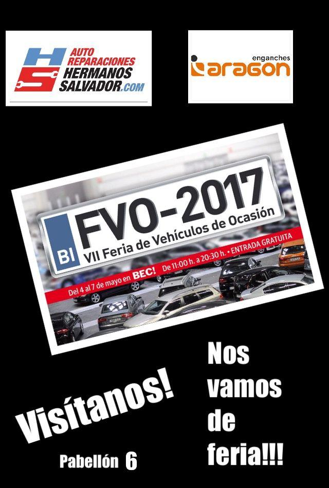 Hermanos Salvador y Enganches Aragon en la Feria de Vehículo de Ocasión 2017