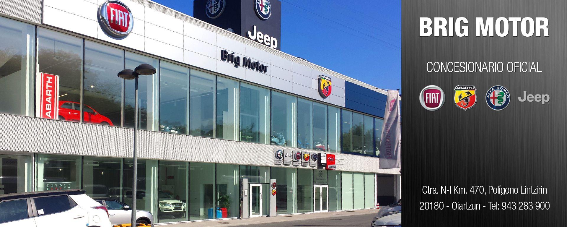 BRIG MOTOR - NUEVO CONCESIONARIO OFICIAL FIAT | ABARTH | ALFA ROMEO | JEEP EN GIPUZKOA