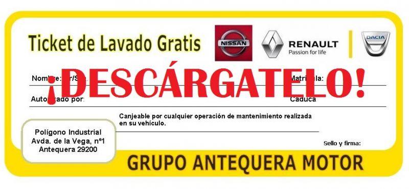 TICKET DE LAVADO GRATIS CON CUALQUIER OPERACIÓN DE MANTENIMIENTO