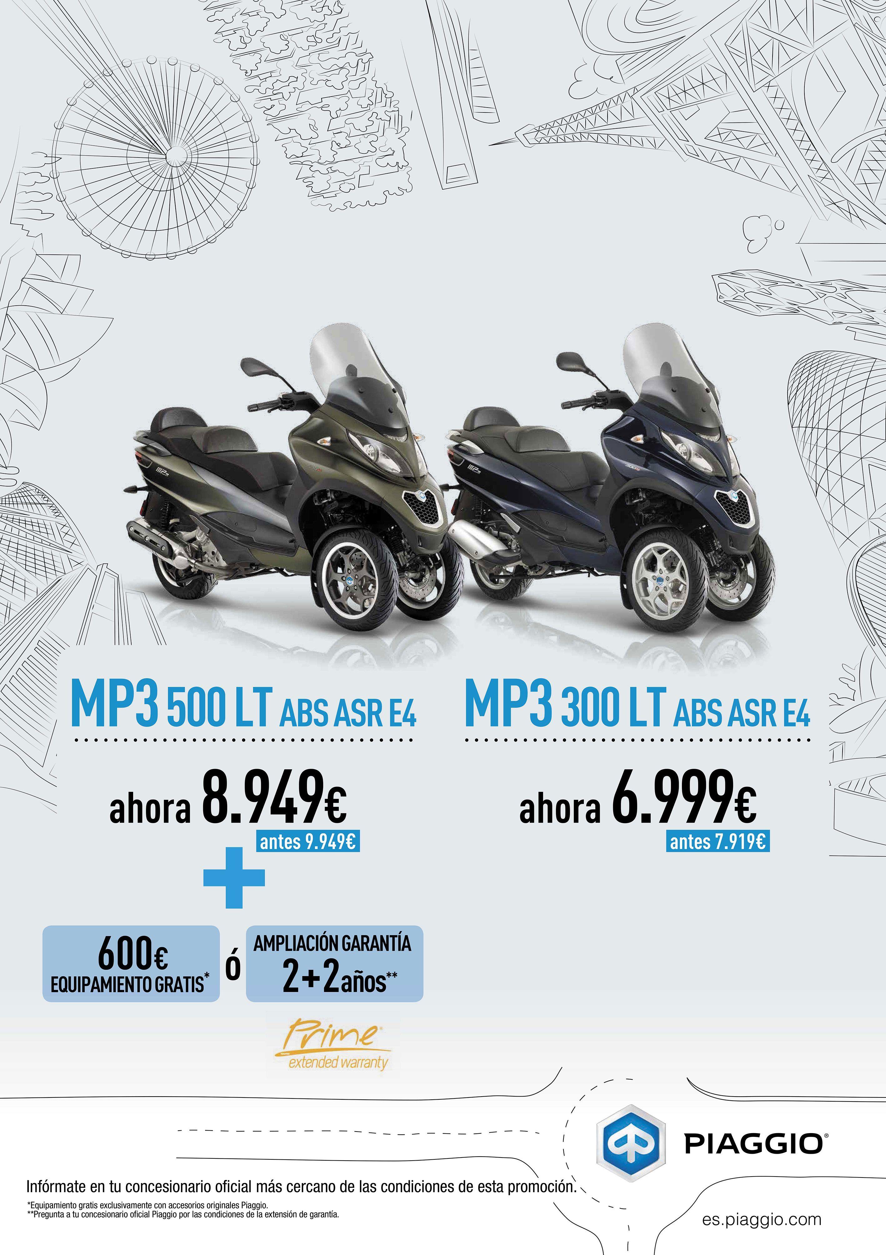 Promoción Piaggio MP3 desde 6.999€