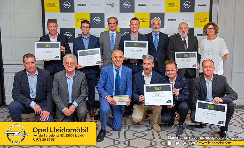 Opel Lleidamobil, elegido Reparador de ORO Opel 2017