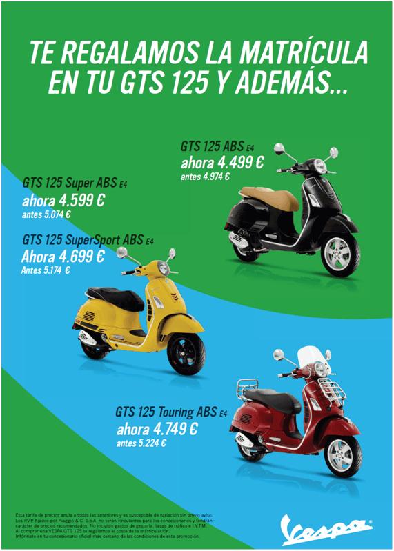 Nueva promocion de Vespa GTS