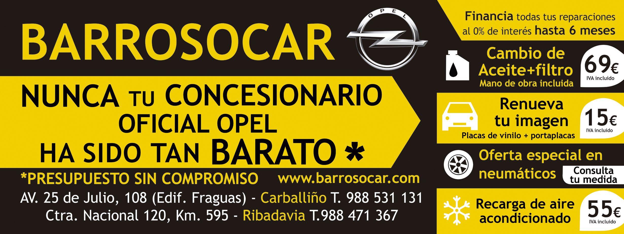 OFERTA BARROSOCAR-NUNCA TU CONCESIONARIO OPEL FUE TAN BARATO