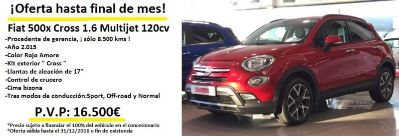 Fiat 500X Cross 4x2 1.6 MultijetII 120cv