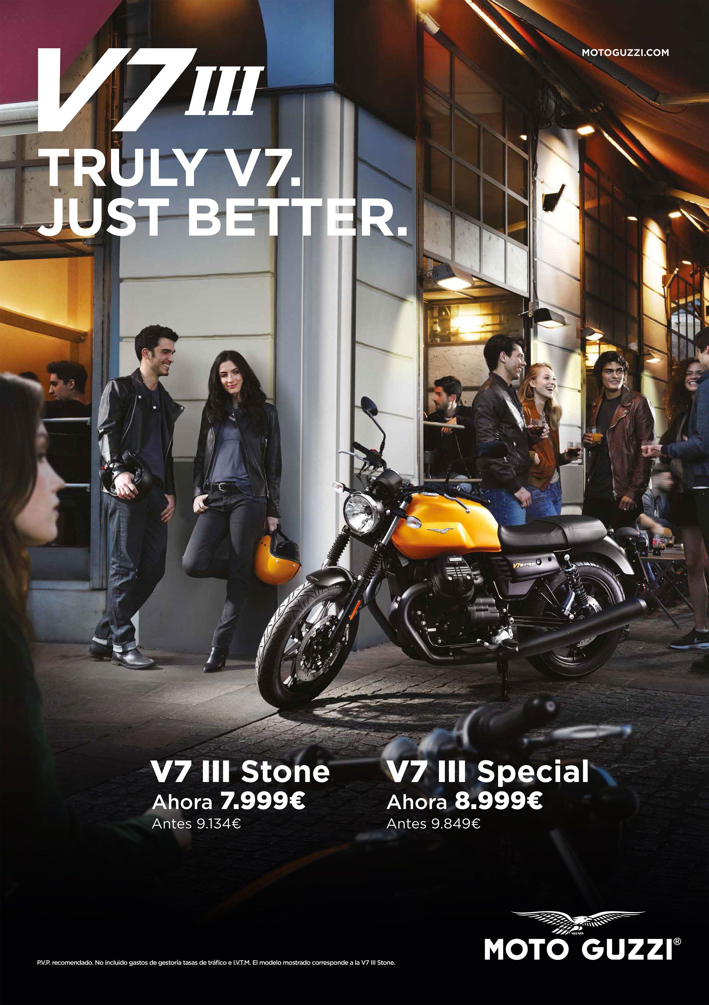 Nueva promoción de Moto Guzzi V7 III