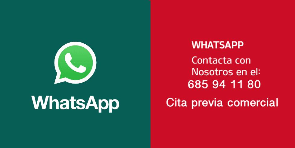 Pídenos información por whatsapp o reserve tu cita comercial.