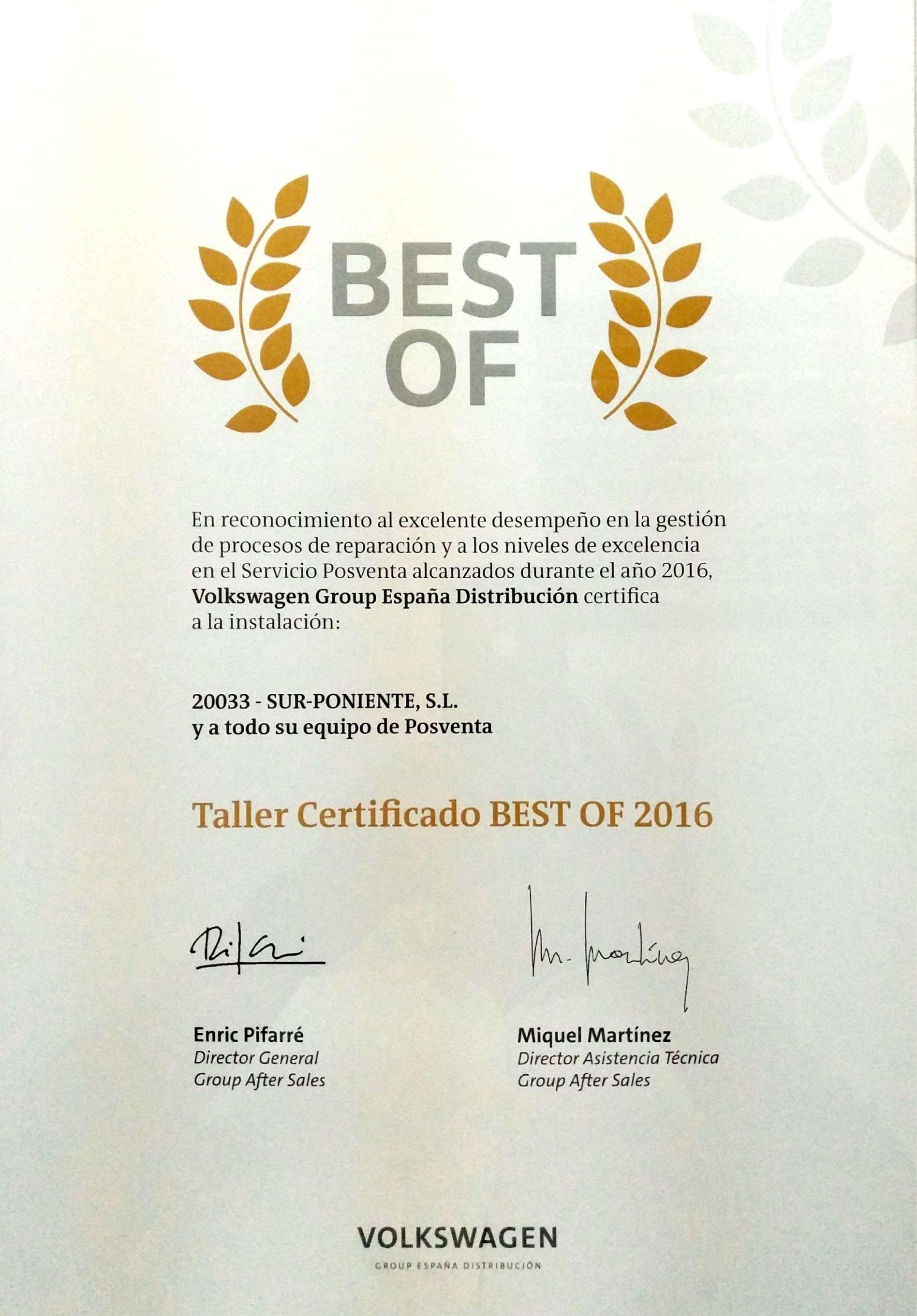BEST OF 2016- Excelencia y Gestión