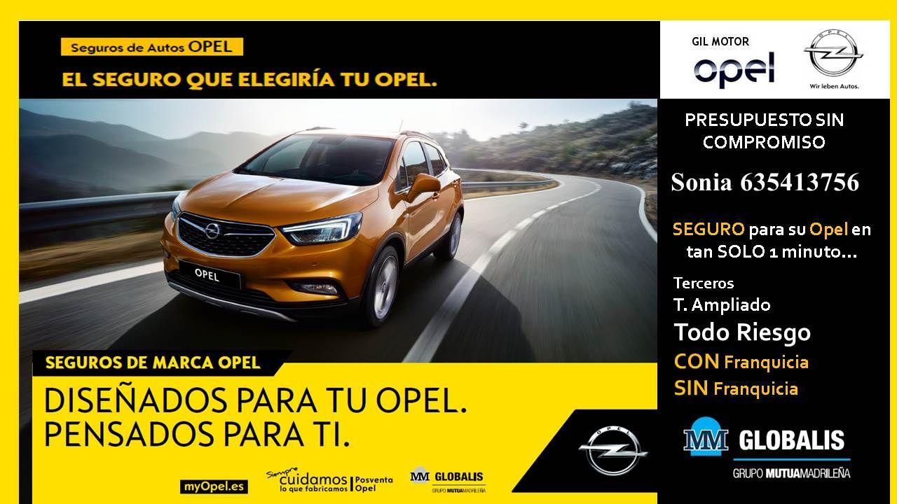 Seguros Opel en Gil Motor
