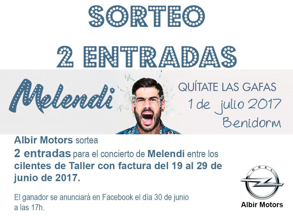 f8706685e0 Albir Motors sortea 2 entradas para el concierto de Melendi en Benidorm