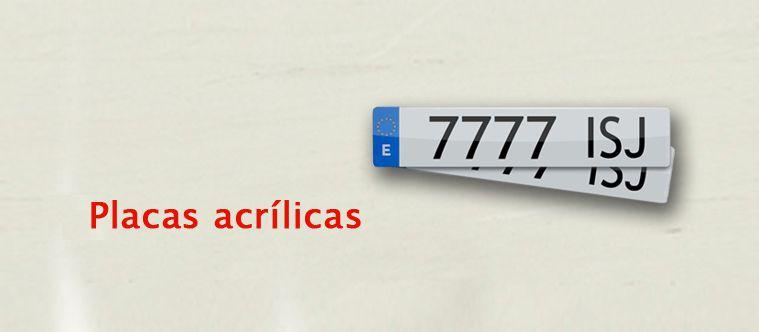 PLACAS ACRÍLICAS POR SÓLO 25€ IVA incluido