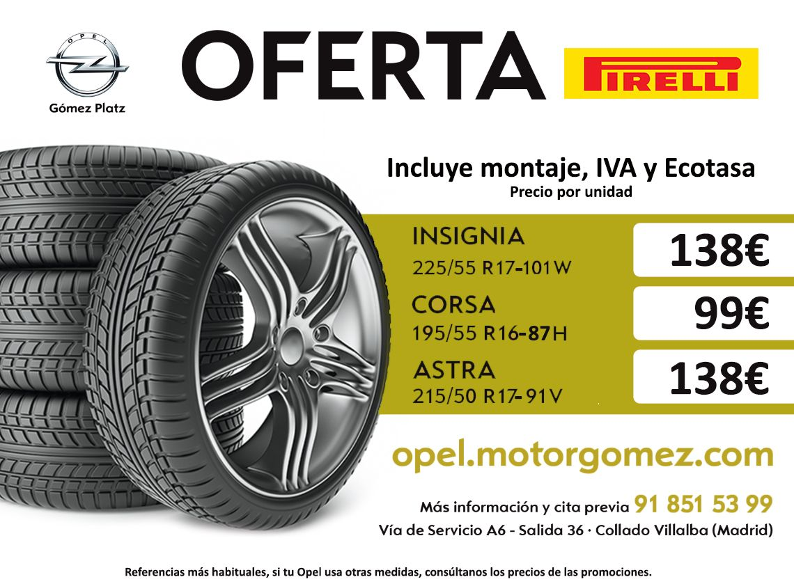 Oferta en Neumáticos Pirelli
