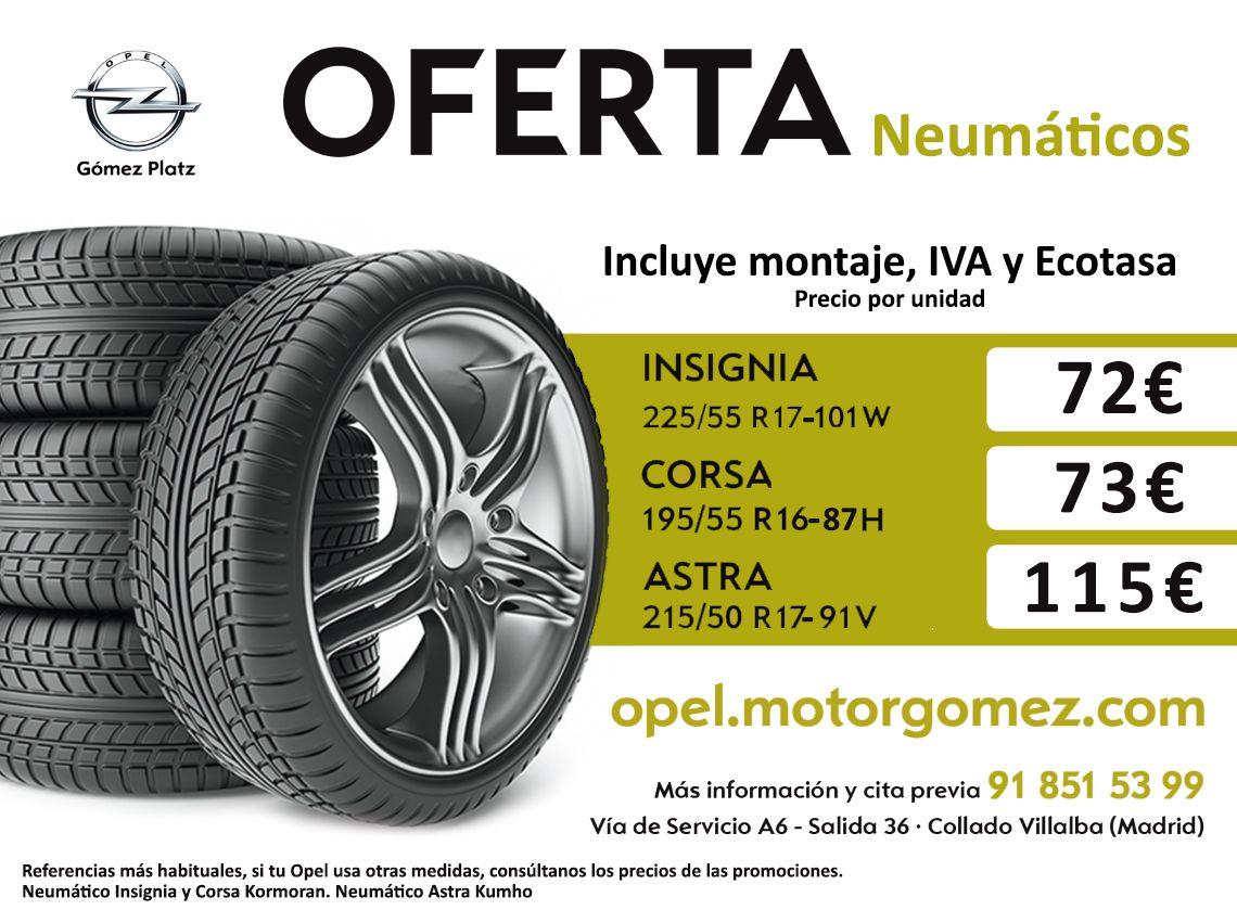 Oferta en Neumáticos hasta el 31 de enero