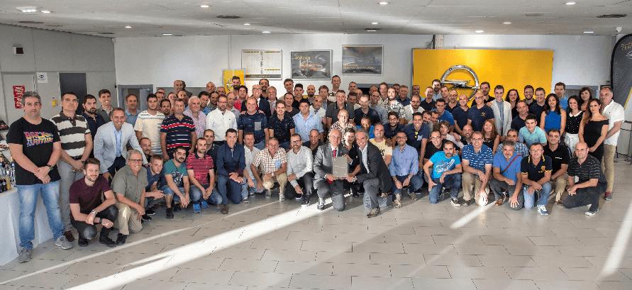 """Talleres Prizán """" Mejor Concesionario del Año Opel 2016"""""""
