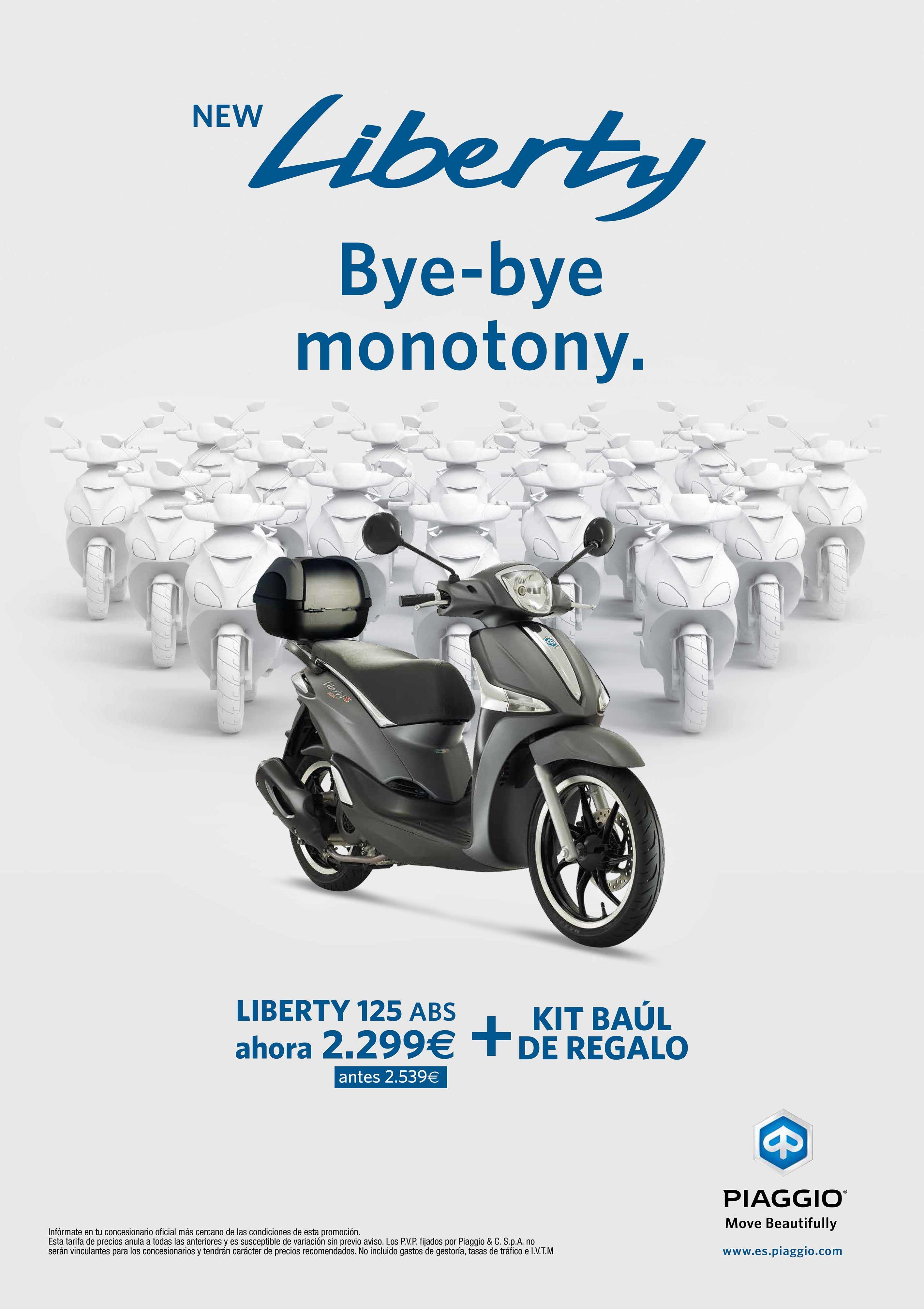 Promoción Piaggio Liberty desde 2.299€ y Baúl trasero de regalo