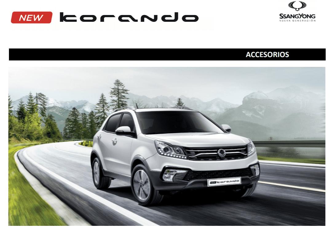 Conoce el nuevo catálogo de accesorios aplicable al New Korando