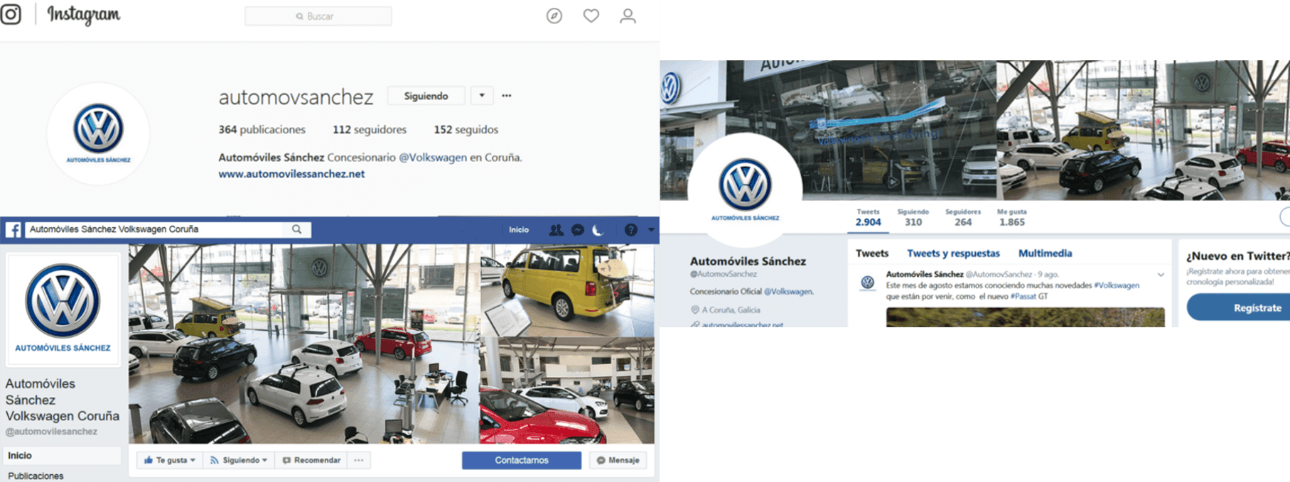Automóviles Sánchez en las redes sociales