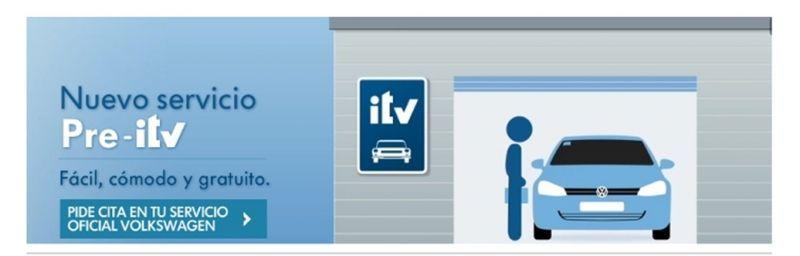 No pierdas un minuto con la ITV. ¡ Nuevo Servicio gratuito ITV Volkswagen !