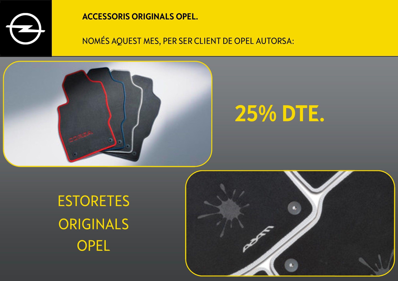 25% Dte. en estoretes originals Opel