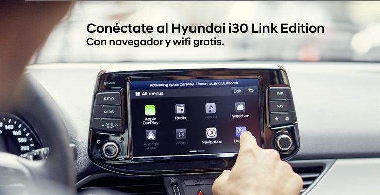 Conéctate al Hyundai i30 link edition con navegador y wifi grátis