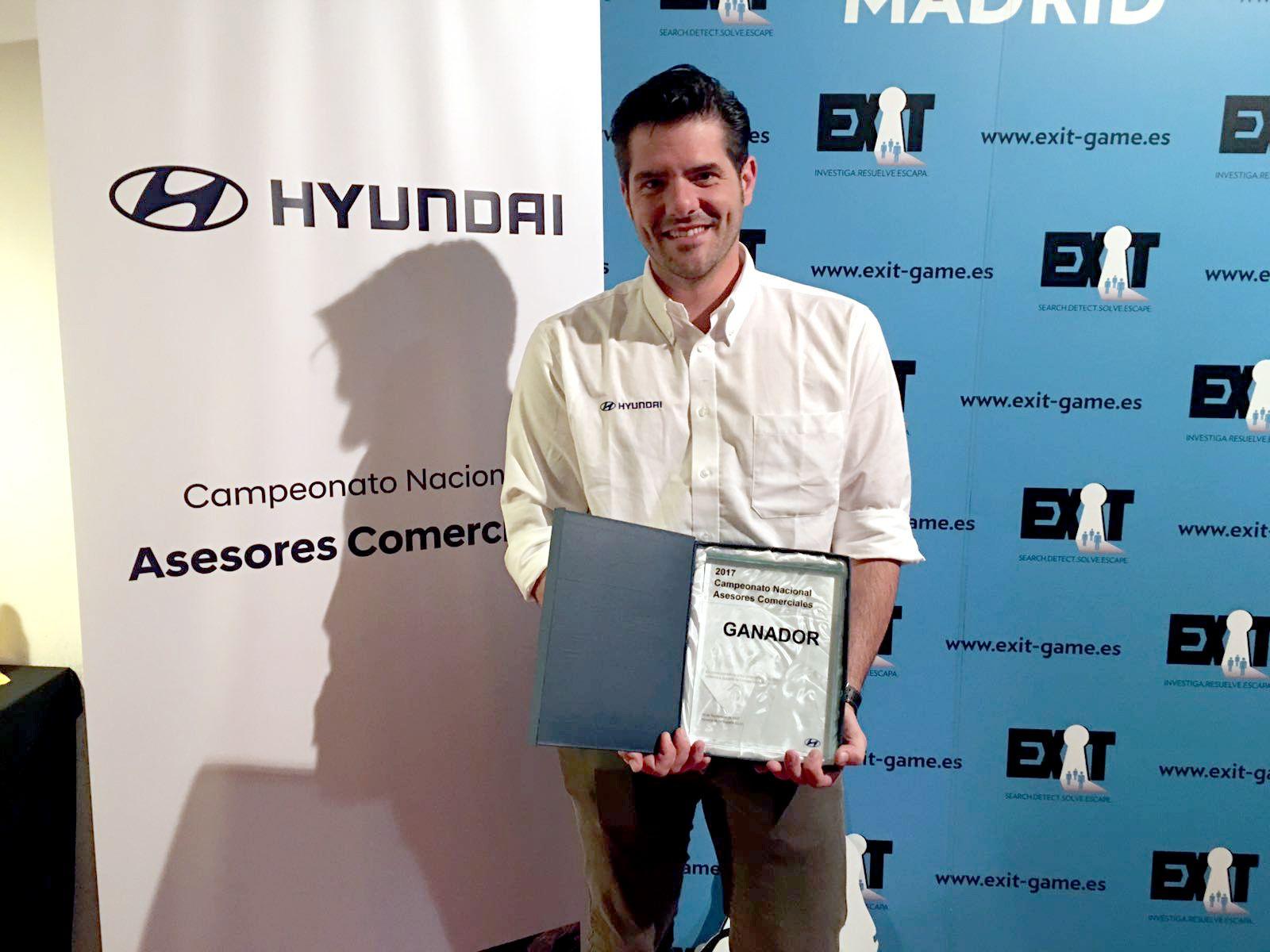Nuestro asesor comercial Marc Utches se proclama mejor asesor comercial de Hyundai a nivel estatal