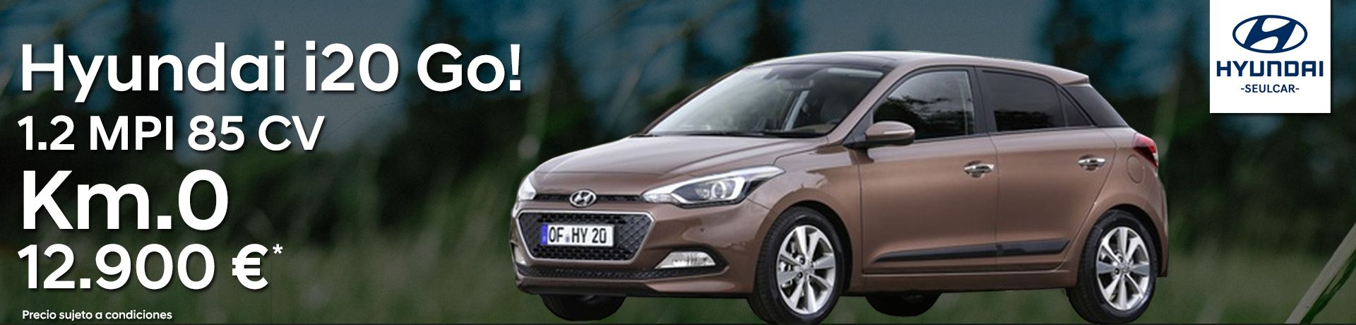 Llévate un Hyundai i20 GO! 1.2 de 85 cv Km.0 ¡Única unidad!