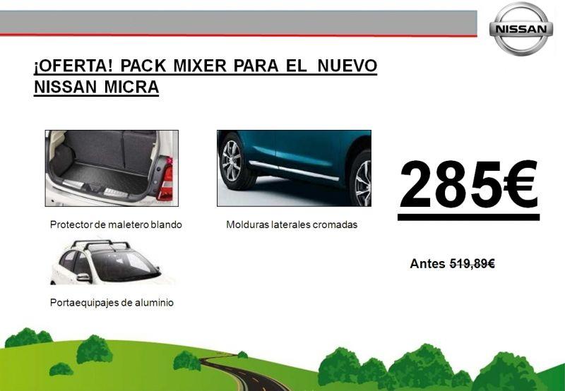 ¡OFERTA! PACK MIXER NUEVO NISSAN MICRA 285€