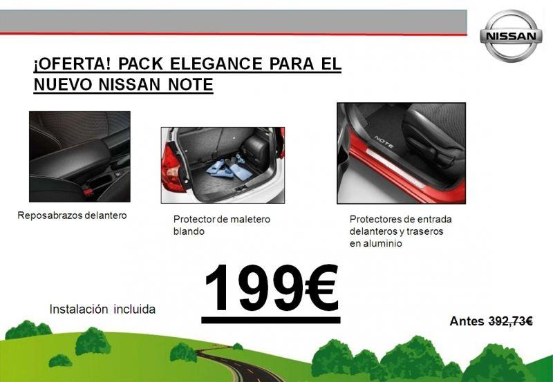 ¡OFERTA! PACK ELEGANCE NUEVO NISSAN NOTE 199€