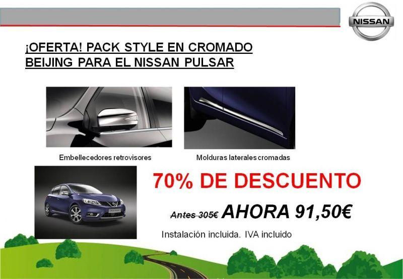 ¡OFERTA! PACK STYLE EN CROMADO BEIJING PARA EL NISSAN PULSAR - ¡¡¡¡¡70% DE DESCUENTO!!!