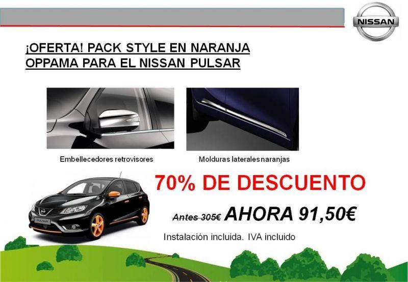 ¡OFERTA! PACK STYLE EN NARANJA OPPAMA PARA EL NISSAN PULSAR - ¡¡¡¡¡70% DE DESCUENTO!!!