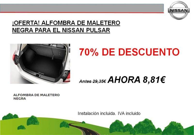 ¡OFERTA! ALFOMBRA DE MALETERO NEGRA PARA EL NISSAN PULSAR - ¡¡¡¡¡70% DE DESCUENTO!!!