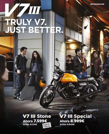 Oferta Moto Guzzi V7III en distintas versiones