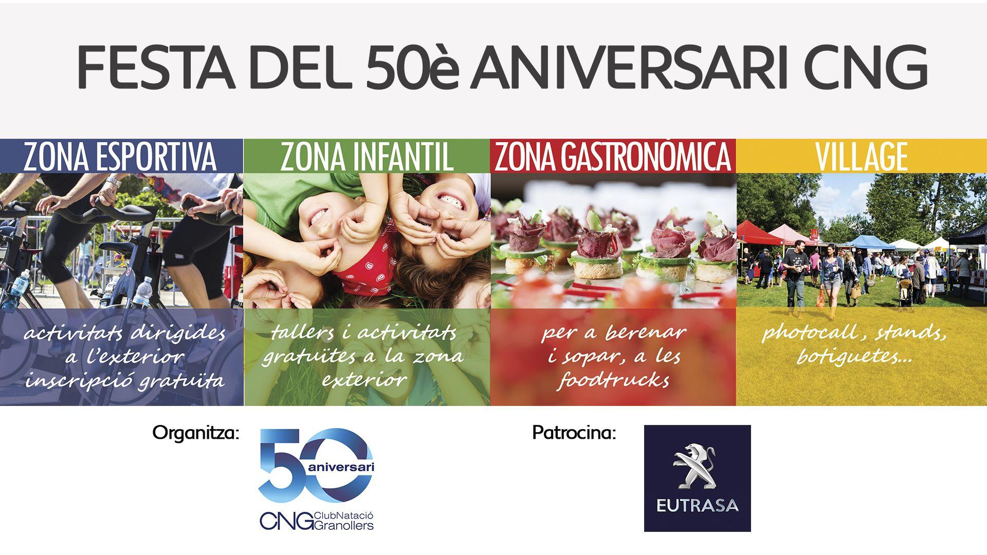 Eutrasa patrocina la Festa del 50è aniversari del Club Natació Granollers