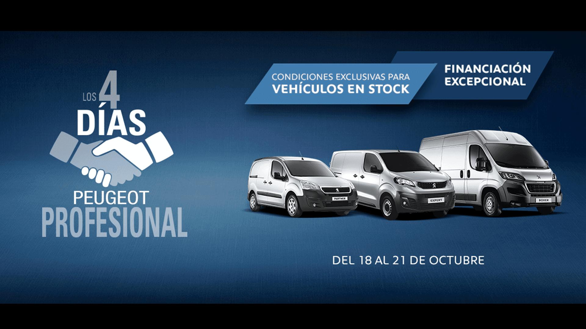 ¡No te pierdas los 4 días Peugeot Profesional!