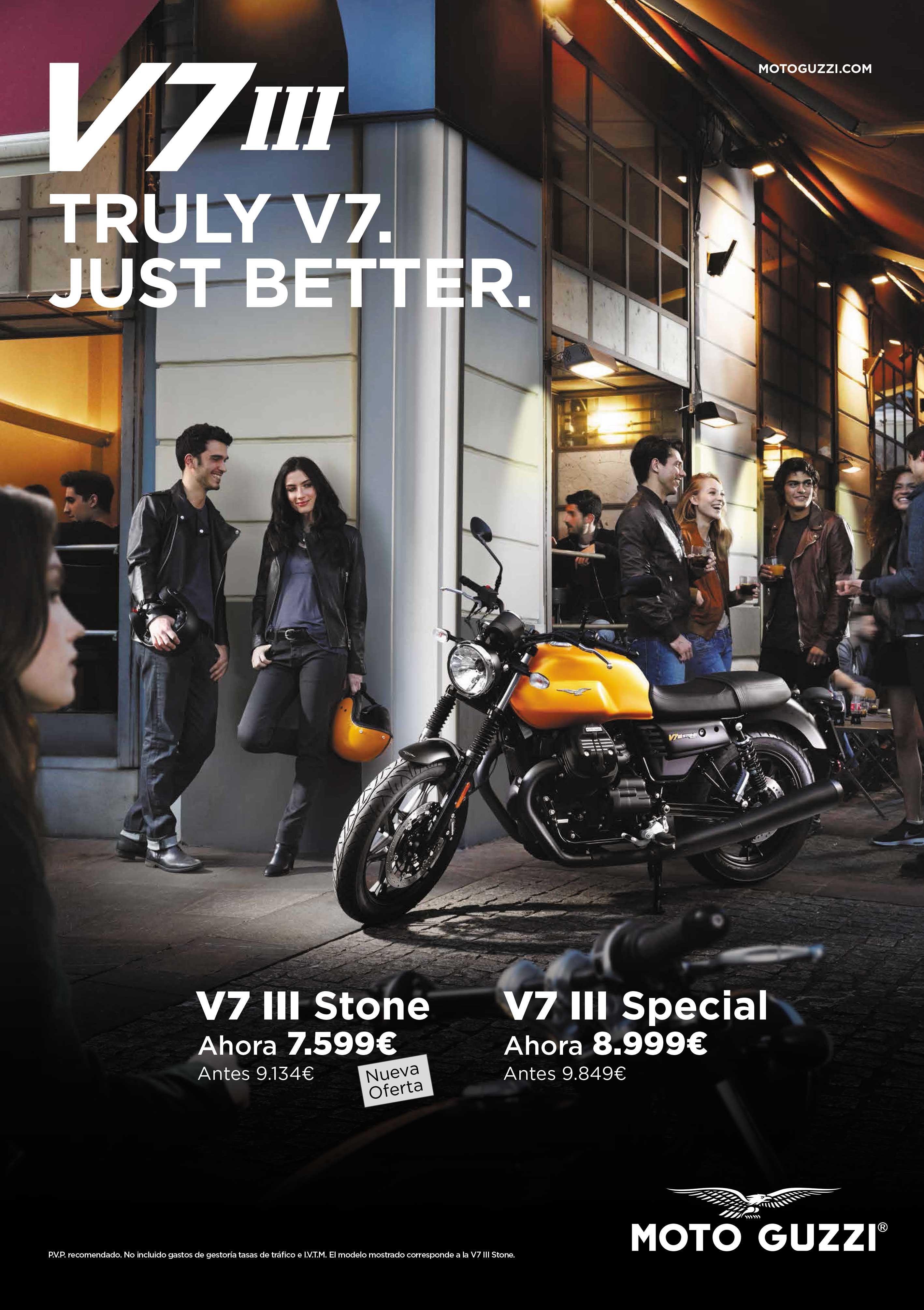 Promoción Moto Guzzi V7III hasta final de año en Deusto Moto Center