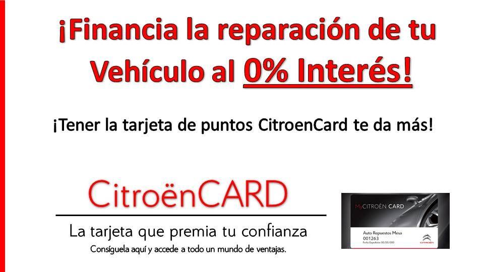 Financia cualquier reparación de tu vehículo al 0% interés!!