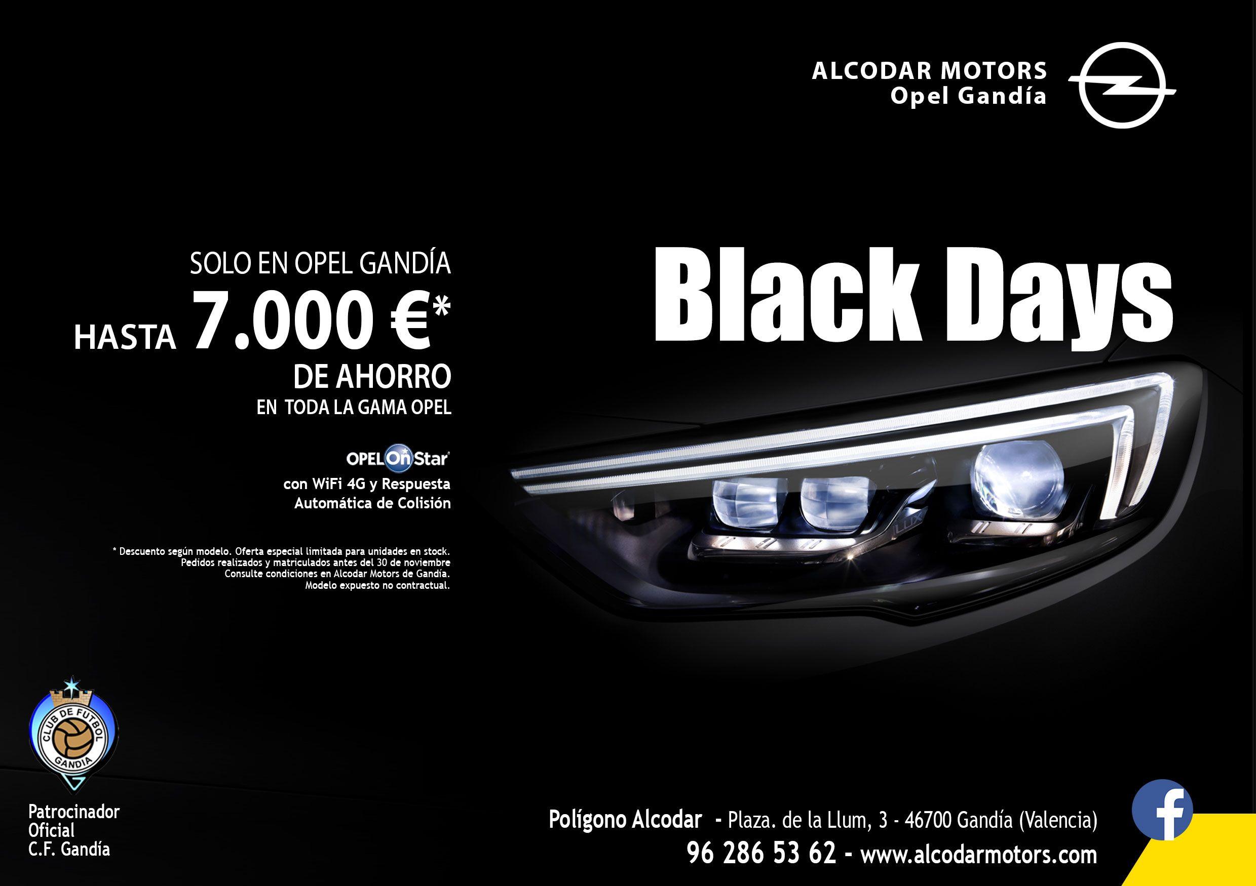 Increíble Black Friday sólo en Opel Gandía - Alcodar Motors