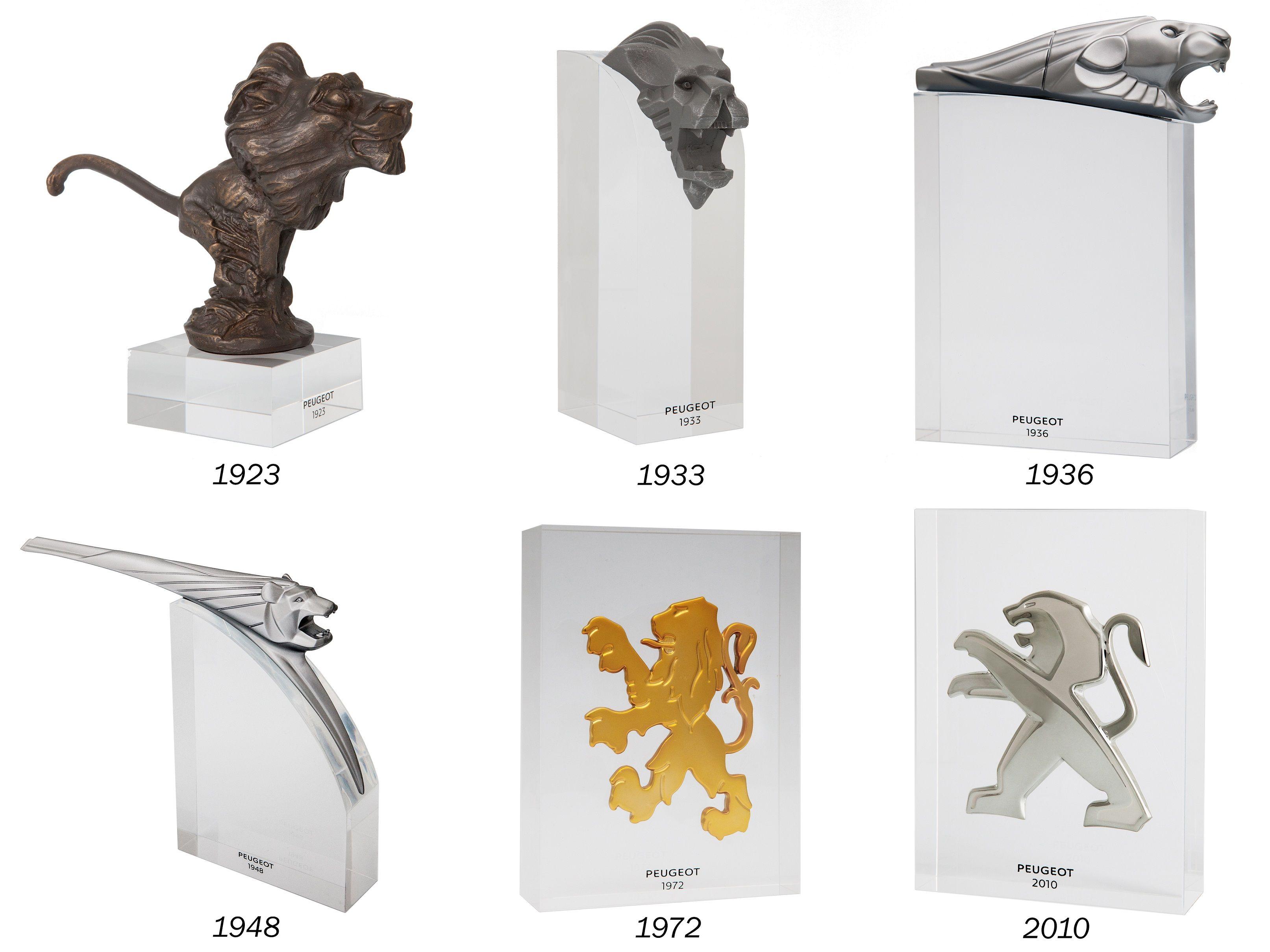 Peugeot hace un repaso a su historia a través de sus emblemas del león en una colección única y limitada